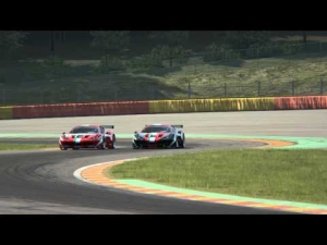 Ferrari 458 GT2 battles at Spa