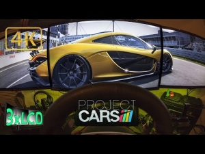 Project CARS | Supercars race MacLaren P1 | *NEW* Nurburgring Grand Prix | triple screen ULTRA 4K