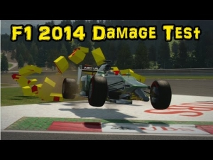 F1 2014 Damage Test Montage
