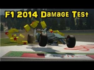 F1 2014 Damage Test Montage