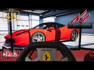 Assetto Corsa | Ferrari 458 chasing Lambo's | Catalunya Barcelona mod | DOWNLOAD LINK