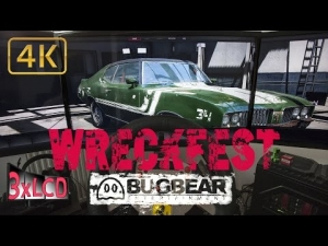 WRECKFEST ex NextCarGame | race at gravel track | triple screen ULTRA 4K