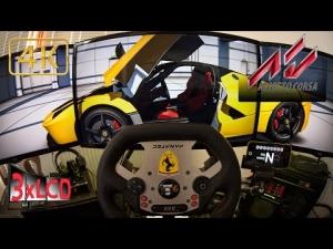 Assetto Corsa | LaFerrari dominates Spa | Fanatec CSR triple screen ULTRA 4K