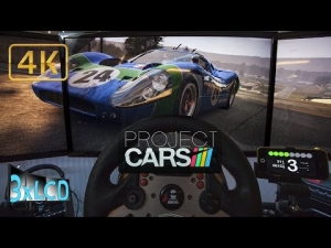 Project CARS | ☂ rainy classic race Ford GT40 MkIV 1967 | Road America | triple screen ULTRA 4K