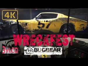 WRECKFEST ex NextCarGame | Tarmac track onboard | triple screen ULTRA 4K