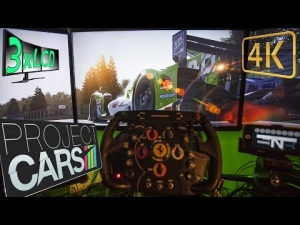 Project CARS |  gorgeous rainy ☂ sunset over Imola | LMP2 race with Oreca Nissan | triple onboard