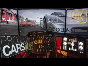 Project CARS | whatta SOUND | rainy ☂ Benz fight  | Mercedes C9 at Road America | triple onboard