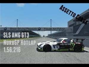 Assetto Corsa - Mercedes SLS AMG GT3 - Hotlap - Nurburgring GP (1.56.216)