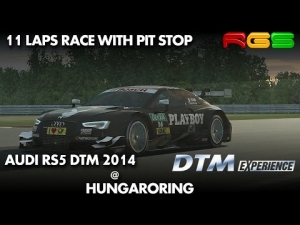 DTM Experience 2014 | Audi RS5 DTM | Hungaroring | Cockpit View | Full Race with Pit Stops