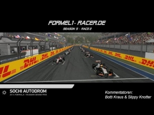 F1 2014 - formel1-racer.de @ Sochi, Russia - 7 Cams & Commentary [GER]