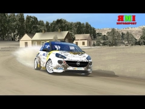 Opel Adam Rally School with wrong tires