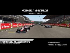F1 2014 - formel1-racer.de @ Spa Francorchamps - 7 Cams & Commentary [GER]