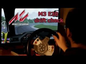 Direct Drive Servo wheel - BMW M3 E30 drift check at Magione