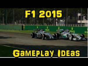 F1 2015 Gameplay Ideas