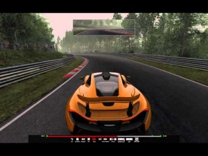 Assetto Corsa - First clean but slow lap around Nurburgring Nordschleife in Mclaren P1