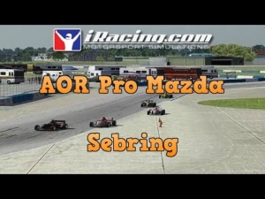 iRacing AOR Pro Mazda Preseason race at Sebring