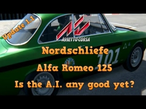 Assetto Corsa Alfa Romeo 125 at Nordschleife - Taking a look at the A.I.