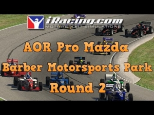 iRacing AOR Pro Mazda Championship round 2 from Barber Motorsports Park - A bit of a mare!