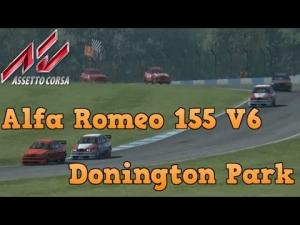 Assetto Corsa Alfa Romeo 155 V6 at Donington Park