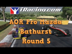 iRacing AOR Pro Mazda Championship round 5 from Mount Panorama - Fun on the mountain