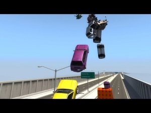 Midair Car Crashes - BeamNG.drive