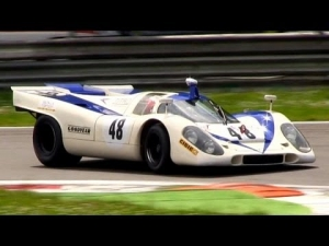 Porsche 917K Flat-12 Pure Engine Sound - In Action on Track