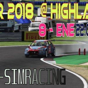 WTCR 2018 @ Higlands Xtre-simracing race 1 & 2