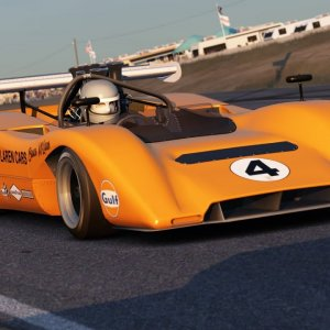 Assetto Corsa: Can-Am race at Riverside at Dusk!