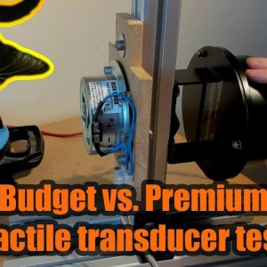 £15 vs. £45 Tactile transducer test! - Can you feel it through your screen?