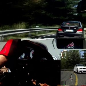 AC - Mount Akina Downhill - BMW 1M - Traffic