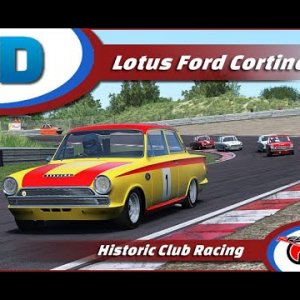 Lotus Ford Cortina @ Zandvoort + Setup Onboard WCD Xtre simracing RaceDepartment com