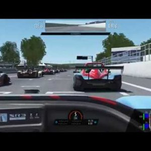 rFactor 2: Showcasing the Radical SR3 XX 2020 at Cicuit de Dijon Prennois against AI 105%