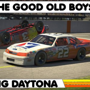 IRACING : Racing the Classic 1987 Ford Thunderbird at Daytona Speedway !