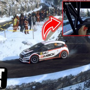 DiRT Rally 2.0 / Snow, Cliff, Narrow / FORD FIESTA R5 / MONACO / KETENG 900 GAMEPLAY