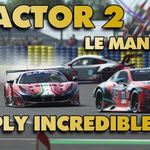 rFactor 2 | Ferrari 488 GTE @ Le Mans 24h | Simply Incredible | POV Project Immersion Triple 1440p