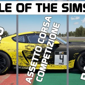 BATTLE OF THE SIMS : We find the best Porsche Cayman GT4 In Sim Racing