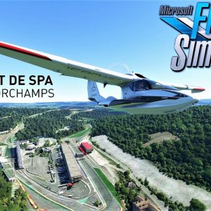 Flying over Spa-Francorchamps | Microsoft Flight Simulator | 4K
