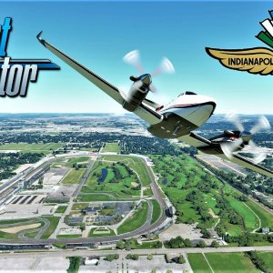 Flying over Indianapolis Motor Speedway (INDY 500) | Microsoft Flight Simulator | 4K