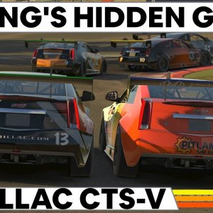 The Cadillac CTS-V : One of iRacing's hidden gems !