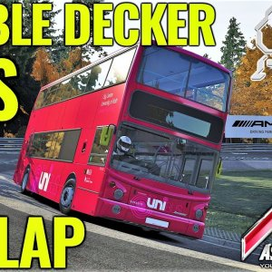 FLAT OUT in a Double Decker Uni Bus Around the Nordschleife! | Assetto Corsa | (Mod Download)