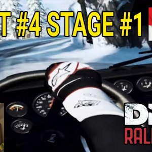Dirt Rally 2.0 VR | Career mode | Event Four - Monaco | Lancia Stratos first time on snow!