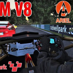 Ariel Atom V8 Morning Track Day at Cadwell Park (Onboard) | Assetto Corsa