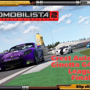AMS2 - Crest Autosport Ginetta G40 GT5 League Final - HP Reverb G2 - DOF Reality H3 motion rig.