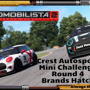 Crest Autosport AMS2 Mini Challenge Round 4, Brands Hatch GP. In HP Reverb G2 and DOF Reality H3